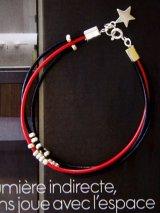 (silver925) カレンシルバーの革紐ブレスレット