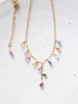 14KGF multisapphire necklace