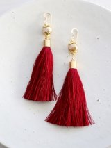 14KGF goldpearl tassel pierce