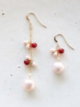 14KGF  pinkpearl redamber pierce