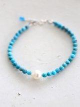SILVER925  turquoise akoyapearl bracelet
