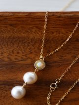 14KGF opal  pearl necklace