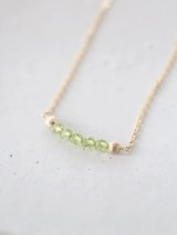 14KGF  peridot necklace