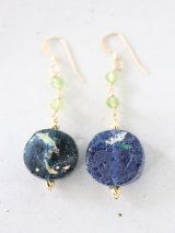 14KGF roman glass pierce