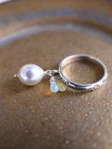SILVER925 opal pearl  riug