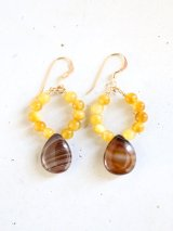 14KGF agete Golden Tiger's Eye pierce