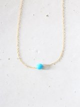 14KGF  Sleeping beautyturquoise necklace