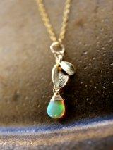 14KGF opal necklace