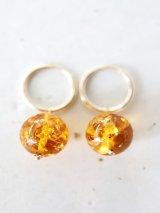 14KGF  amber hooppierce
