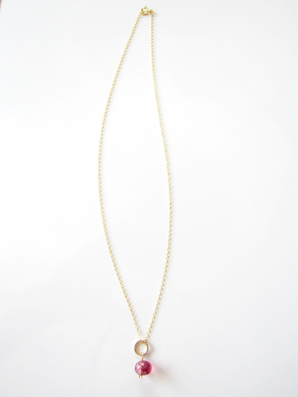 画像4: (14kgf) 3色 水晶 美しい染め一粒ネックレス