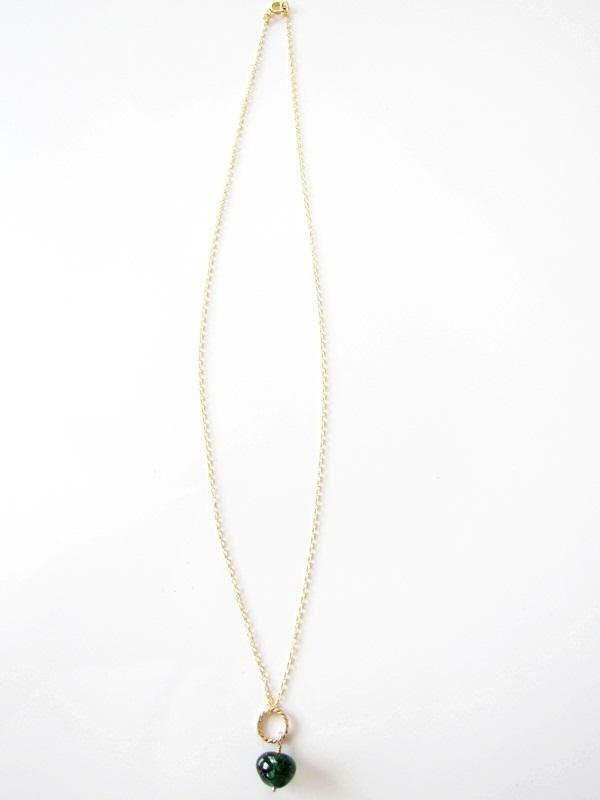 画像2: (14kgf) 3色 水晶 美しい染め一粒ネックレス