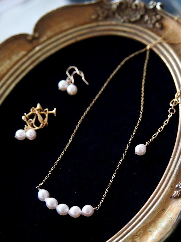 画像1: (14kgf)高級アコヤ真珠のネックレスセット 6mm