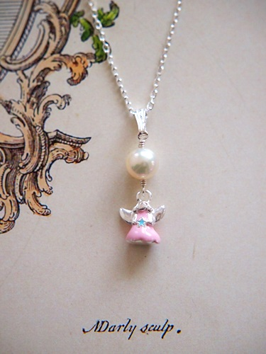 画像2: SILVER925 angel pearl necklace [nc335]