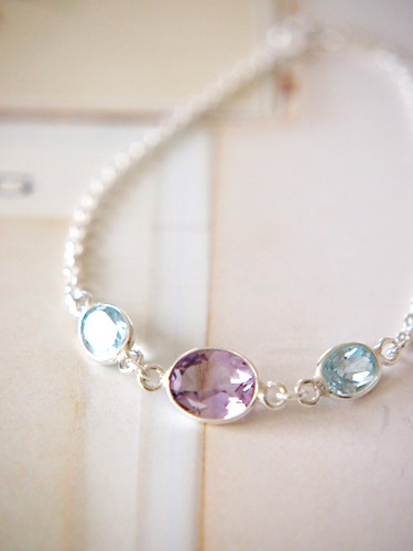 画像2: SILVER925 topaz amethyst bracelet
