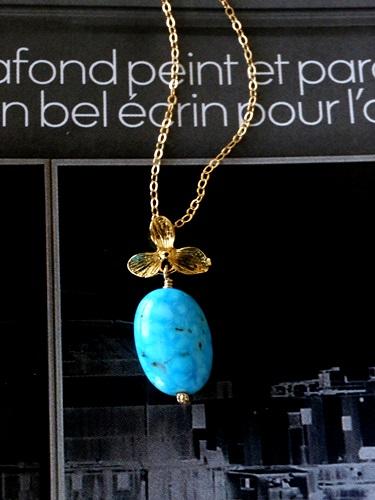 画像1: (14kgf) kingman Turquoise ネックレス(45cm)