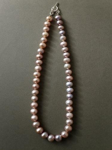 画像1: (silver925)  マルチカラー淡水パールのネックレス(44cm)