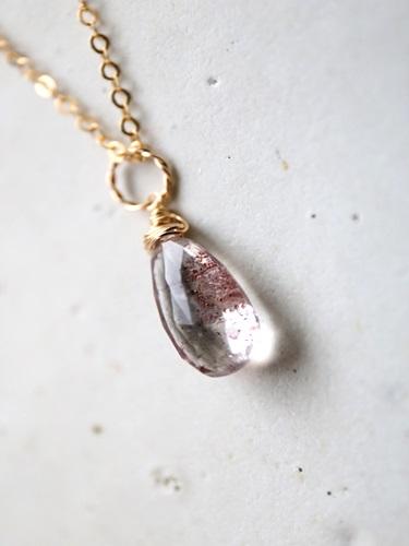 画像1: 14KGF elestial quartz shaped briolette cut necklace