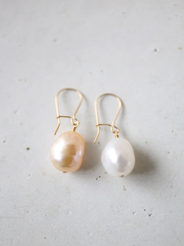 画像1: 14KGF baroque pearl  pierce