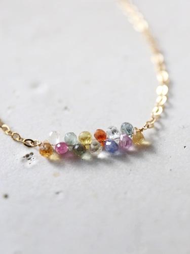 画像1: 14KGF multisapphire bracelet