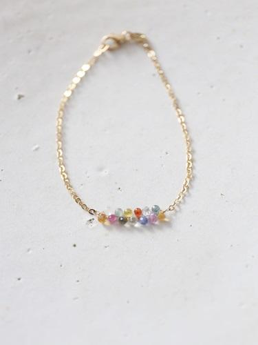 画像2: 14KGF multisapphire bracelet