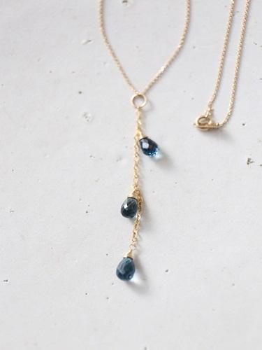 画像1: 14KGF  topaz pearl necklace