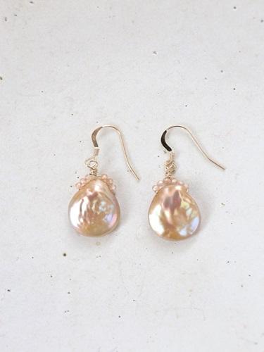 画像1: 14KGF champagnegold pearl pierce