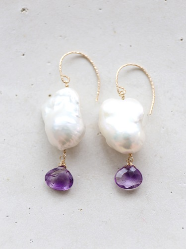 画像1: 14KGF superseven baroque pearl pierce