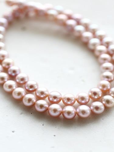 画像1: (silver925)high qualityピンクパールのネックレス