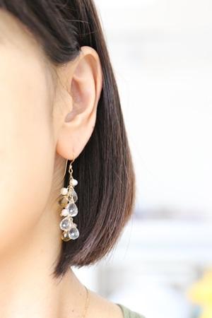 画像2: 14KGFcrystal pearl citrine pierce