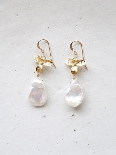 画像1: (14kgf) flowersmotif  pearl pierce