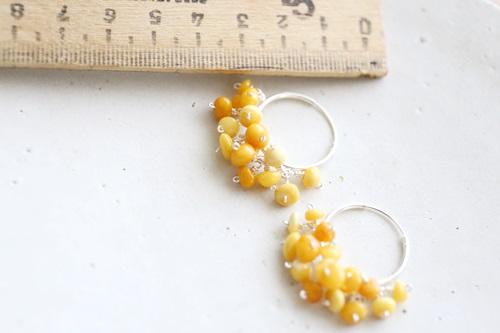 画像2: SILVER925  royal amber pierce