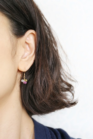 画像3: 14KGF sapphire3×5mm pierce 3color