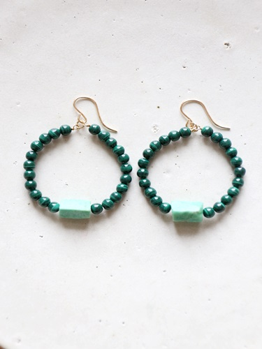 画像1: 14KGFchrysoprase malachite  pierce