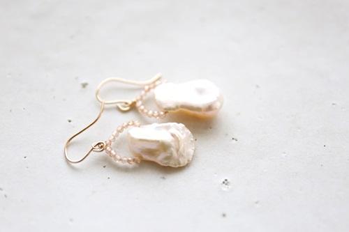 画像3: 14KGF champagnegold pearl pierce