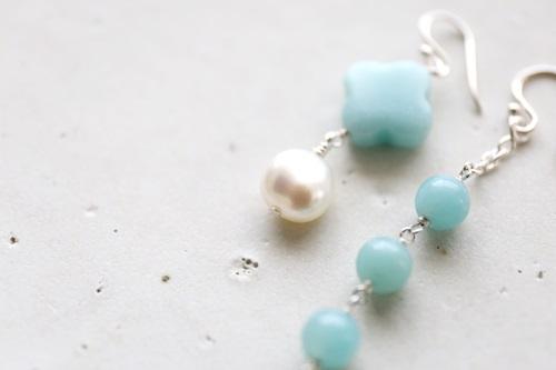 画像3: SILVER925 amazonite pearl pierce