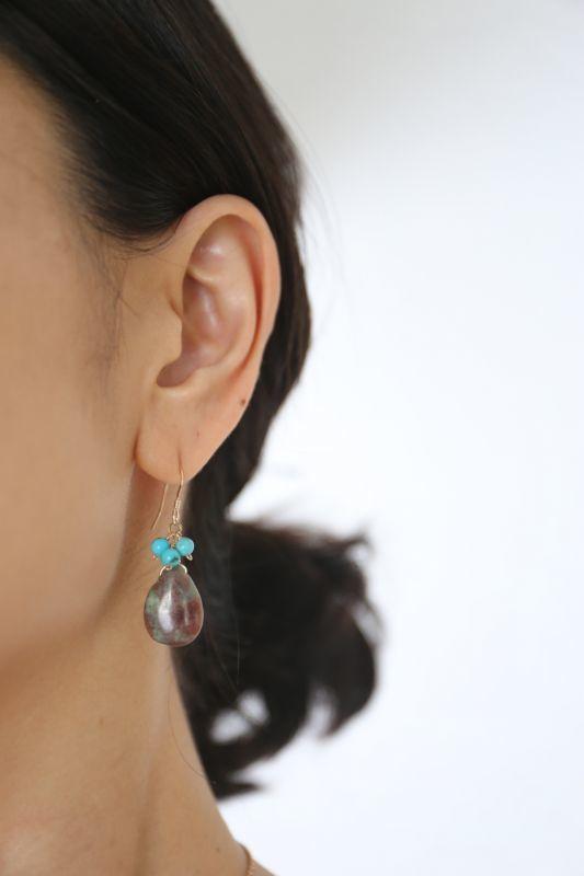 画像4: 14KGF turquoise eclogite  pierce