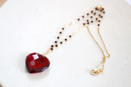 画像4: 14KGF amber heart necklace