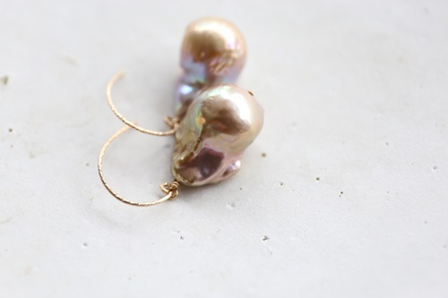 画像2: 14KGF baroque pearl pierce