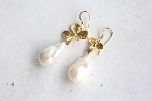 画像3: 14KGF baroque pearl pierce