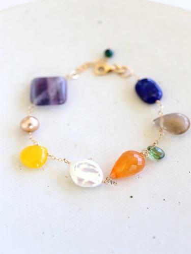 画像1: 14KGF malch bracelet