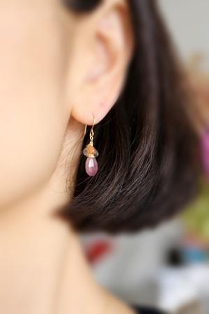 画像2: 14KGF sapphire pierce