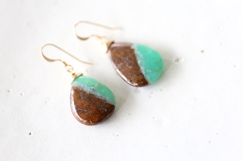 画像3: 14KGF chrysoprase pierce
