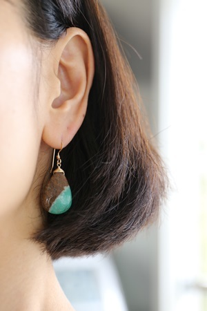 画像2: 14KGF chrysoprase pierce