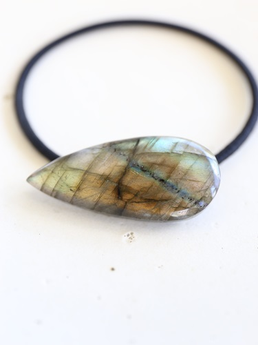画像1: labradorite hair ornaments