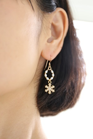 画像3: 14KGF snow crystal pearl pierce