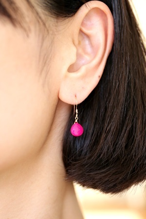 画像2: 14KGF lovelysweet shockingpink pierce