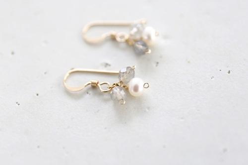 画像3: 14KGF labradorite pearl pierce