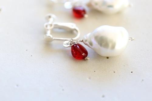 画像3: SILVER925 amber pearl earrings
