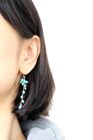 画像2: 14KGF turquoise pierce
