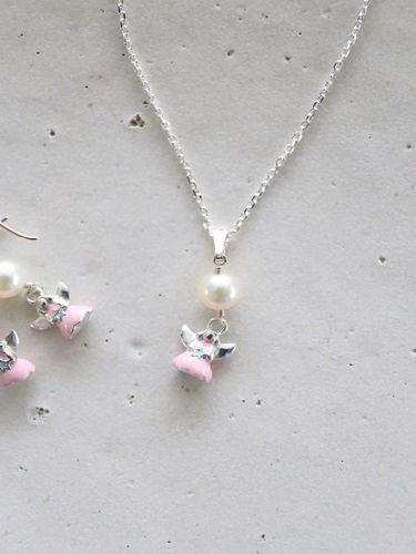 画像1: SILVER925 angel pearl necklace [nc335]